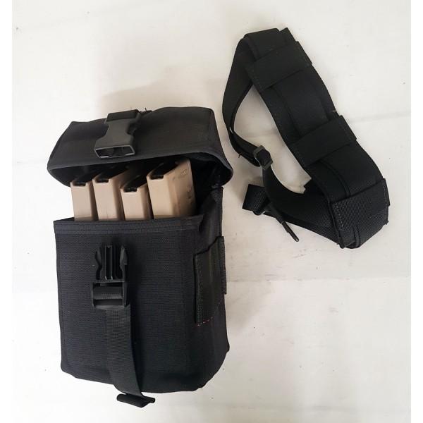 Porte Chargeurs 5,56mm (4) Noir