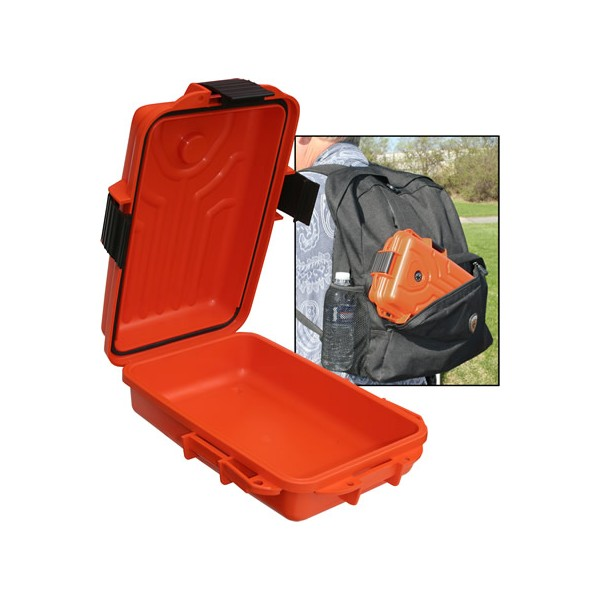 Boîte de Survie étanche Orange 252x176x76mm