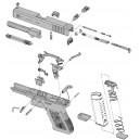 Liste de Pièces détachées pour Pistoles Glock