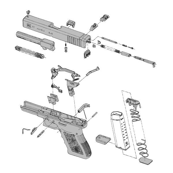 Listes de Pièces Détachées pour Pistolets Glock