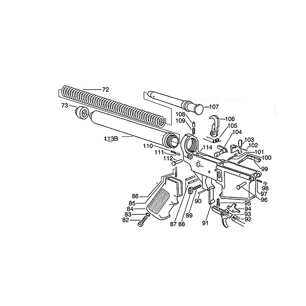 Listes de Pièces Détachées pour AR15/M16/M4