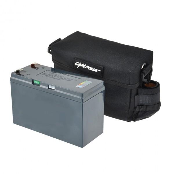 Batterie LiFePO4 12.8V 7.5 Amp./H avec Chargeur et sacoche