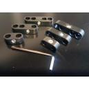 Séparateurs de fil de bougie - 2-3-4 Fils plastique noir - 6 pièces