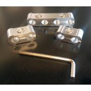 Séparateurs de fil de bougie - 2-4 Fils aluminium - alu - 3 pièces