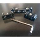 Séparateurs de fil de bougie - 2-4 Fils aluminium - noir - 3 pièces